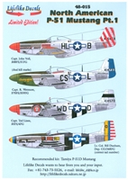 Lifelike Decals 48-015 - North American P-51 Mustang, Part 1