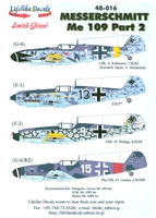 Lifelike Decals 48-016 - Messerschmitt Me 109, Part 2