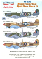 Lifelike Decals 48-025 - Supermarine Spitfire, Part 3