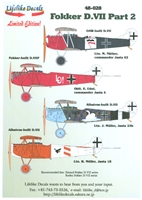 Lifelike Decals 48-028 - Fokker D.VII, Part 2