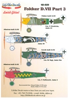 Lifelike Decals 48-029 - Fokker D.VII, Part 3