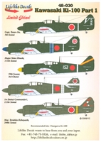 Lifelike Decals 48-030 - Kawasaki Ki-100, Part 1