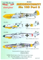 Lifelike Decals 48-033 - Messerschmitt Me 109, Part 5