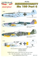 Lifelike Decals 48-034 - Messerschmitt Me 109, Part 6