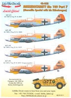 Lifelike Decals 48-035 - Messerschmitt Me 109, Part 7