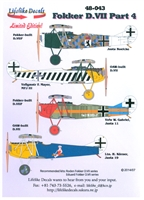 Lifelike Decals 48-043 - Fokker D.VIII, Part 4
