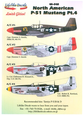 Lifelike Decals 48-048 - North American P-51 Mustang, Part 4