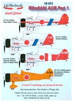 Lifelike Decals 48-053 - Mitsubishi A5M, Part 1