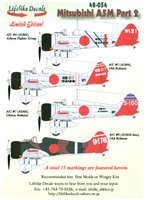 Lifelike Decals 48-054 - Mitsubishi A5M, Part 2