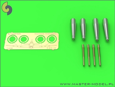 Master AM48082 - Hawker Typhoon Mk IB Early Type Cannons with Uncovered Barrels (4 pcs)