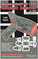 Master Details 32002 - Messerschmitt Bf 109G Cockpit Interior (for Hasegawa kits)