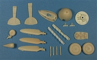 Master Details 32004 - Messerschmitt Bf -109G Maximum Detail Set (for Hasegawa Bf-109G series kits)