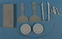 Master Details 32006 - Messerschmitt Bf -109F/G Main Landing Gear Set (for Hasegawa Bf-109G series kits)