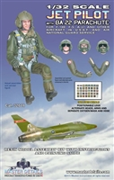 Master Details 32018 - U.S. Air Force & Air National Guard Jet Pilot with BA 22 Parachute