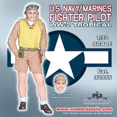 Master Details 32035 - U.S. Navy/Marines Fighter Pilot, WW2 Tropical