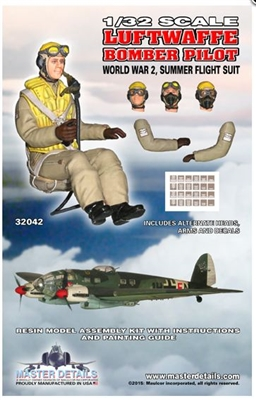 Master Details 32042 - Luftwaffe Bomber Pilot (WWII Summer Flight Suit)