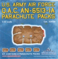 Master Details 32059 - U.S. Army Air Force Q.A.C. AN-6513-IA Parachute Packs