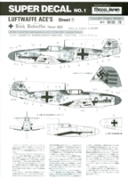 Model Japan No. 1 - Luftwaffe Aces, Sheet 1