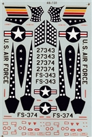Micro Scale 48-131 - RF-84Fs (66th Tac. Recon. Wing and 45th Tac, Recon. Sq.)
