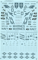 Micro Scale 48-321 - F-18A's USN/USMC Low Vis