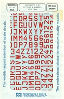 Micro Scale 72-38 - Luftwaffe I.D. Letters & Numbers (Red 13mm)