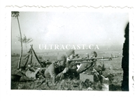 German Soldiers Firing an MG34 on Tripod with Optics, Original WW2 Photo