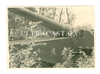 Captured French Railway Gun with Name & Artwork, Original WW2 Photo