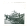 Disabled German Panzer IV Tank, Original WW2 Photo
