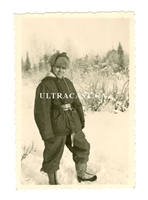 German Soldier in Winter Uniform, Russia, Original WW2 Photo