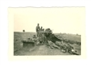 15 cm Artillery Gun and Crew Relaxing, Original WW2 Photo