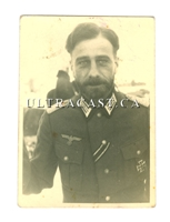 German Officer with Beard, Iron Cross First Class and Second Class, Original WW2 Photo
