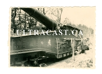 Captured French Railway Gun with Artwork, France 1940, Original WW2 Photo