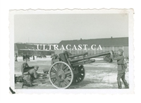 10.5 cm Artillery Gun and Crew, Original WW2 Photo