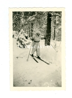 German Soldier on Skis with Winter Uniform, Original WW2 Photo