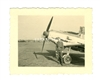 Bf-109E and Ground Crewman, Original WW2 Photo