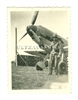 German Soldier Guarding a Messerschmitt Bf-109, Original WW2 Photo