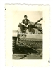 Panzer Crewman Sitting on a Panzer III, Original WW2 Photo