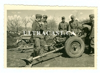 3.7 cm Pak Anti-Tank Gun and Crew, May 1942, Original WW2 Photo