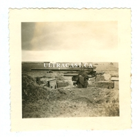 8.8 cm Anti-Tank Gun in Firing Position, Original WW2 Photo