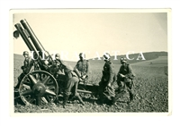15 cm sIG 33 Infantry Gun and Crew Reloading, Original WW2 Photo