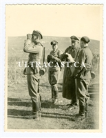 German Officers with Lugers and Binoculars, Original WW2 Photo