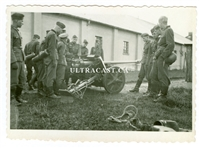 German Soldiers with 5 cm Anti-Tank Gun, Original WW2 Photo