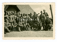 German Soldiers with Guitars and Accordian, Original WW2 Photo