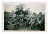 10.5 cm Artillery Gun and Crew Posing for Photo, Original WW2 Photo