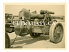 15 cm German Artillery Gun and Limber with Camouflage Paint, Original WW2 Photo