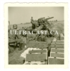 15 cm German Artillery Gun and Crew with Shells & Cartridge Boxes, Original WW2 Photo
