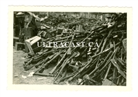 Captured Polish Small Arms and Ammunition Crates and Equipment, 1939, Original WW2 Photo