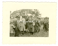 German Soldiers with French Prisoners of War, France 1940, Original WW2 Photo