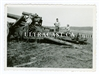 Crewman Preparing to Fire a 21 cm Artillery Gun with Lanyard pulled tight, Original WW2 Photo