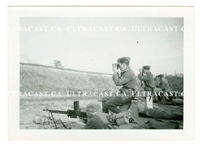 German Soldiers Firing a Captured French FM 24/29 Machine Guns, Original WW2 Photo